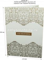 Картонная папка А4, с готового вырубного штампа № 1, компании PRIMAVERA