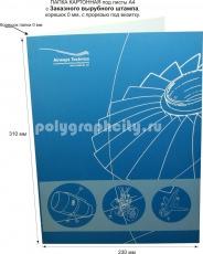 Картонная папка А4, с Заказного вырубного штампа под листы формата А4, компании AIRWAYS TECHNICS