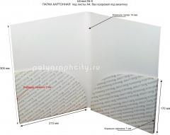 Картонная папка А4, с готового вырубного штампа № 6, компании ПРОФСТАНДАРТ (разворот)