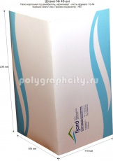 Картонная папка-конверт для авиабилетов с готового вырубного штампа № 40-avi под листы формата 1/3 А4, компании FJORD (лицо)