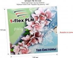 ПАПКА А5 - ШТАМП № 43-CD под CD/DVD, фото