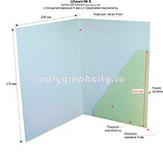 Картонная папка под листы А4 с готового вырубного штампа № 4, по заказу компании «НИЖФАРМ» (оборот)