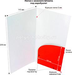 Картонная папка-конверт с Заказного вырубного штампа по заказу компании «SEVASTOPOL HOTEL» (разворот)